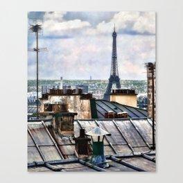 Montmartre Rooftop Canvas Print