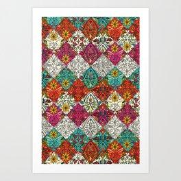 aziza patchwork Art Print