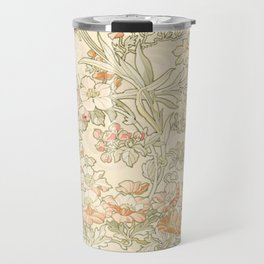 "Alphonse Mucha ""Anemones, Apple Blossoms and Narcissis"" Travel Mug"