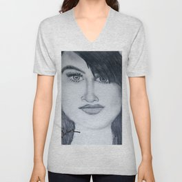 Demi sketch Unisex V-Neck