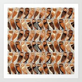 Owls of Athens Art Print