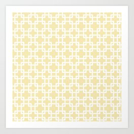 Plummer baby yellow Art Print