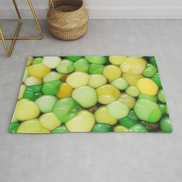 Lemon Lime Abstract Rug