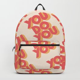 You Do You Block Type Backpack