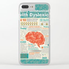 Visually Communicating with Dyslexics Infrographic Clear iPhone Case