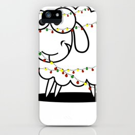 Christmas Baaa Humbug Sheep Gift iPhone Case