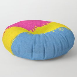 Pansexual Ornamental Flag Floor Pillow