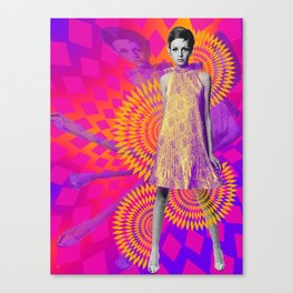 Supermodel Twiggy 1 - Supermodels of the Sixties Series Canvas Print