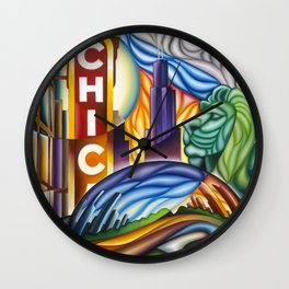 Chicago Montage Wall Clock