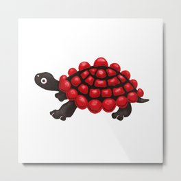 Red and black tortoise Metal Print