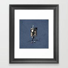 Moonwalkman Framed Art Print
