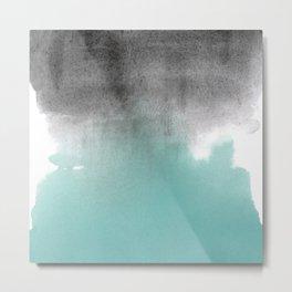 Merge Aqua Metal Print
