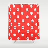 skulls Shower Curtains featuring Skulls by Trenton