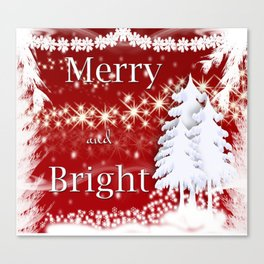 Christmas Merry and Bright Canvas Print