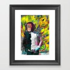 Wet paint. Framed Art Print