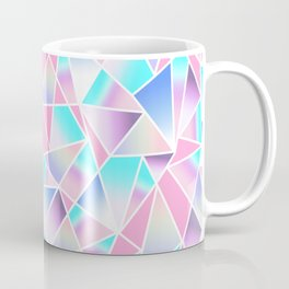 Girly Gradient Geometric Triangles in Pink Teal Coffee Mug