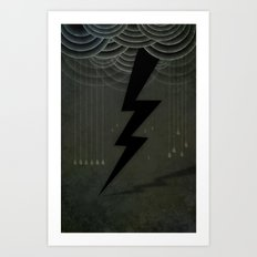 The Black Bolt Art Print
