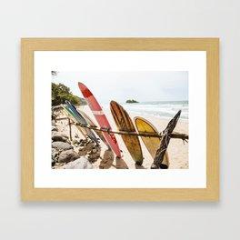 Surfing Day 2 Framed Art Print