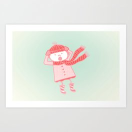 Hold On to Your Hat! (The Blustery Day)  Art Print