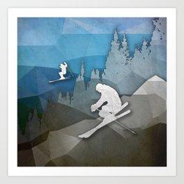 The Skiers Art Print
