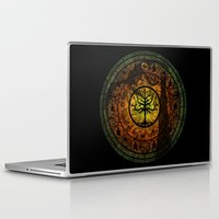 gondor Laptop & iPad Skins featuring Tree of Gondor Stained Glass by Mazuki Arts