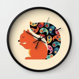 Paisley Squirrel Wall Clock
