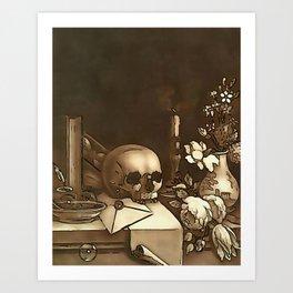 Everything In Vanity Black Outline Art After Haid Art Print