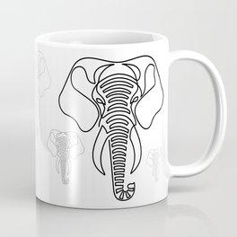 Minimalist Elephant (black on white) Coffee Mug
