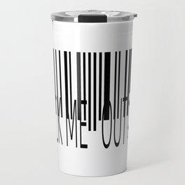 Barcode-Check Me Out ;D Travel Mug