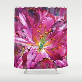 Star Gazing Star Lily Shower Curtain
