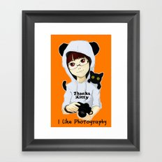 thanks kitty - i like photography Framed Art Print