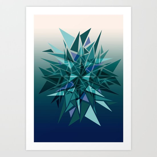 Cracked Icicles Art Print