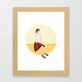 daisy doodle Framed Art Print