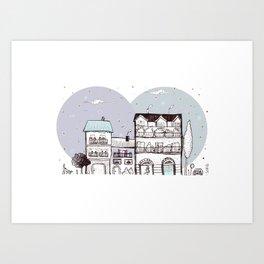 la città dalla finestra Art Print