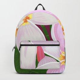 Key West - White Plumeria Backpack