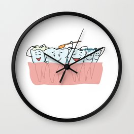Clean teeth Wall Clock