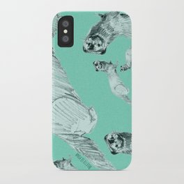 Mink in Bleu (c) 2017 iPhone Case