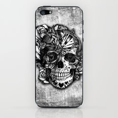 Sugar and Spice grunge candy skull. iPhone & iPod Skin