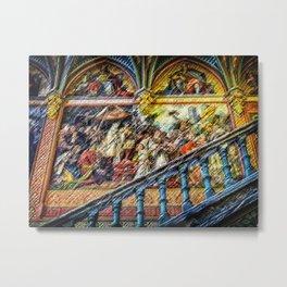 The Ancestors Mid-Evil Landscape Painting by Jeanpaul Ferro Metal Print