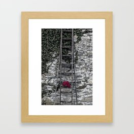 red gloves Framed Art Print