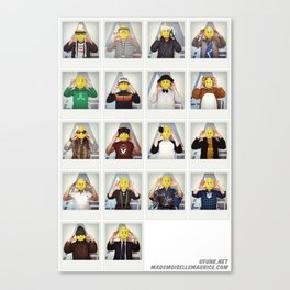 Minifig me ! – Everyone has a LEGO piece inside - ALL Canvas Print