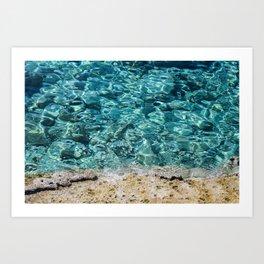 Crystal Blue Ripple Art Print