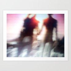 Motion blur photography Art Print