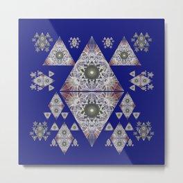 Oceanic Healing Sacred Geometry Meditation Art Print Metal Print