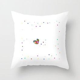 Konfetti im Herzen Faschingsumzug Silvester Party graphic Throw Pillow