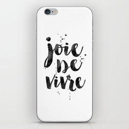 JOIE DE VIVRE, French Decor,French Quote,Dorm Room Decor,Home Decor,Modern Art,Girls Printable,Girls iPhone Skin