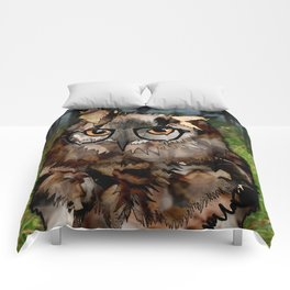 Owl's Good in the Woods Comforters