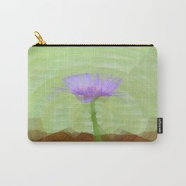 Single water lily on long stem Carry-All Pouch