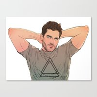 derek hale Canvas Prints featuring Derek Hale by DakotaLIAR