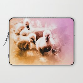 Cygnets Huddle Together Laptop Sleeve